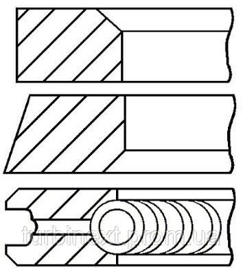 Кольца поршневые RENAULT 69.0 (1.5/1.5/2.5) 1.2 D7F GOETZE 08-104100-00