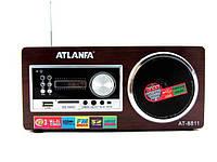Радиоколонка ATLANFA AT-8811 Автосканирование FM радиостанций 3,5 мм minijack Встроенный эквалайзер+будильник