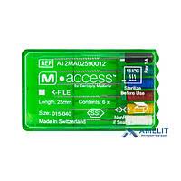 К-Файл М.Аксесс №45-80(K-File M.Access, Dentsply Maillefer), 6шт./уп.