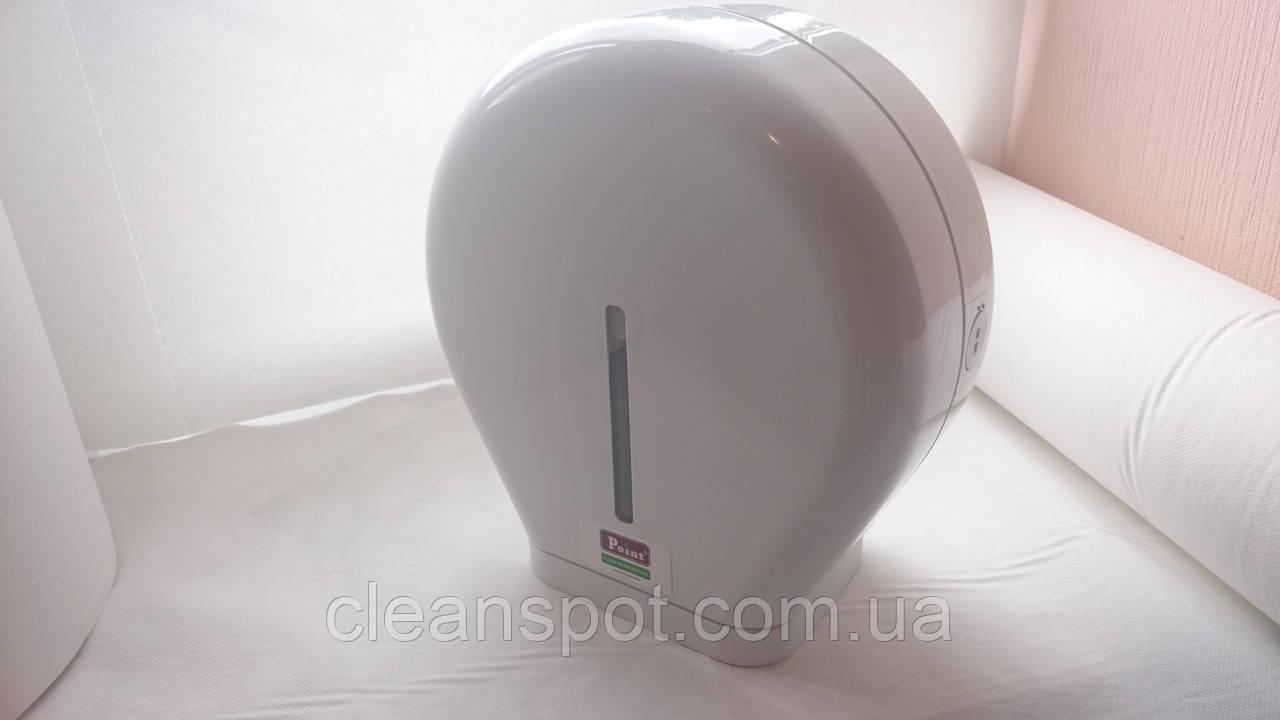 Держатель туалетной бумаги джамбо белый пластик Eco Point