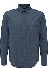 Мужская рубашка с длинным рукавом Finn Flare A16-21021-101 темно-синяя