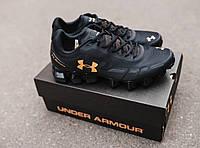 Мужские кроссовки Under Amour Scorpio Black Gold (андер армор скорпио, черные/золотистые)