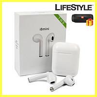 Наушники беспроводные Airpods i8 mini TWS / Bluetooth гарнитура + колонка JBL Charge 2 в Подарок!