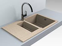 Кухонная мойка из искусственного камня 78*49*20 см Miraggio LaPAS терра