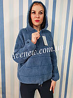 Женская куртка с капюшоном из шерсти альпаки, фото 1