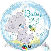 Фольгированный шарик с гелием Мишка Тедди Мальчик