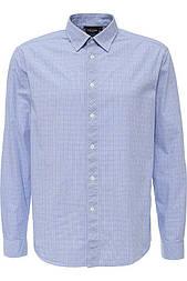 Мужская голубая рубашка с длинным рукавом Finn Flare A16-21021-201
