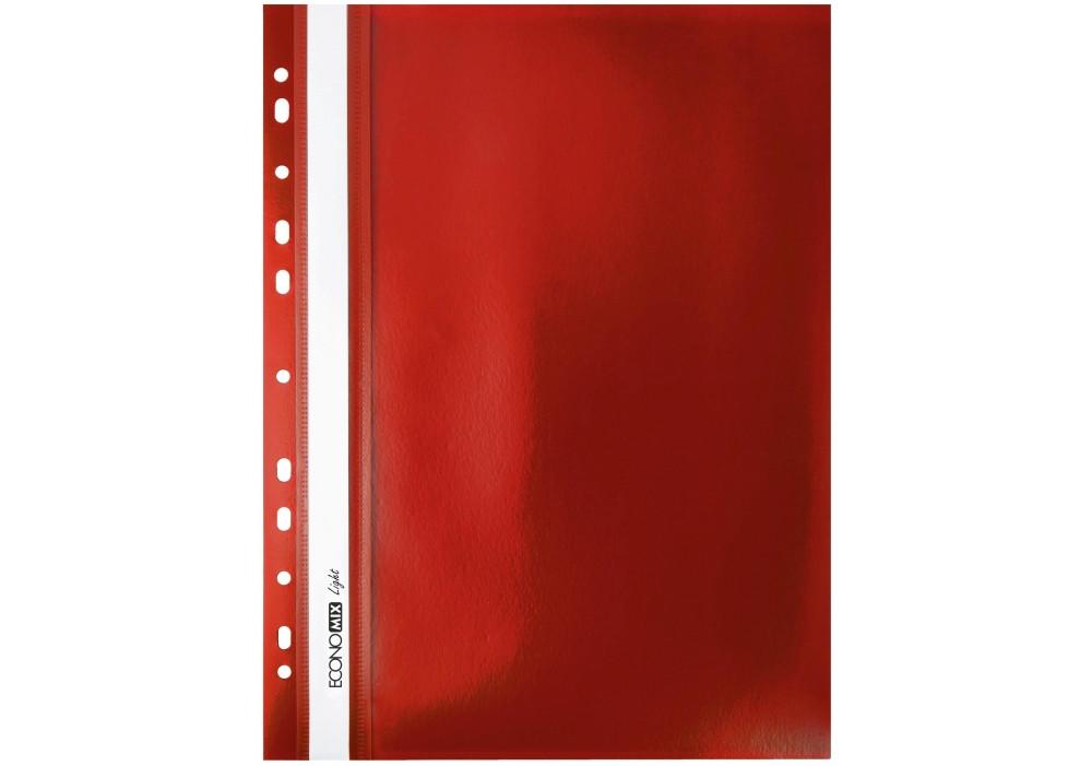 Папка-скоросшиватель А4 Economix Light с перфорацией, красная E38504-03