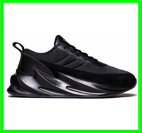 Кроссовки Adidas $harks Мужские Адидас Чёрные Акула (размеры: 42,43,44,45) Видео Обзор, фото 2