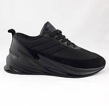 Кроссовки Adidas $harks Мужские Адидас Чёрные Акула (размеры: 42,43,44,45) Видео Обзор, фото 3