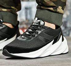 Кроссовки Adidas Мужские Адидас Чёрные с Белым (размеры: 41,43,44) Видео Обзор, фото 3