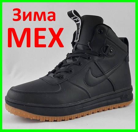 Кроссовки N!ke Air Мужские ЗИМА - МЕХ Чёрные Ботинки Найк (размеры: 41) Видео Обзор, фото 2