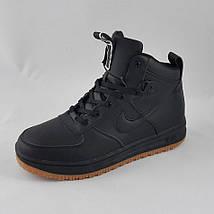 Кроссовки N!ke Air Мужские ЗИМА - МЕХ Чёрные Ботинки Найк (размеры: 41) Видео Обзор, фото 3