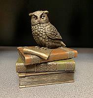 Шкатулка Veronese Сова на книгах 75509, символ мудрости, фото 1