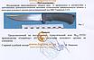 Нож охотничий рыбачий для  разделки туш рыбы и мяса  и подготовки походно-полевой кухни, фото 4