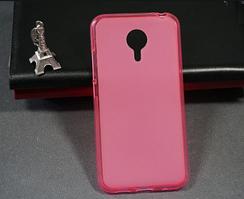 Силиконовый чехол для Meizu MX4 розовый прозрачный