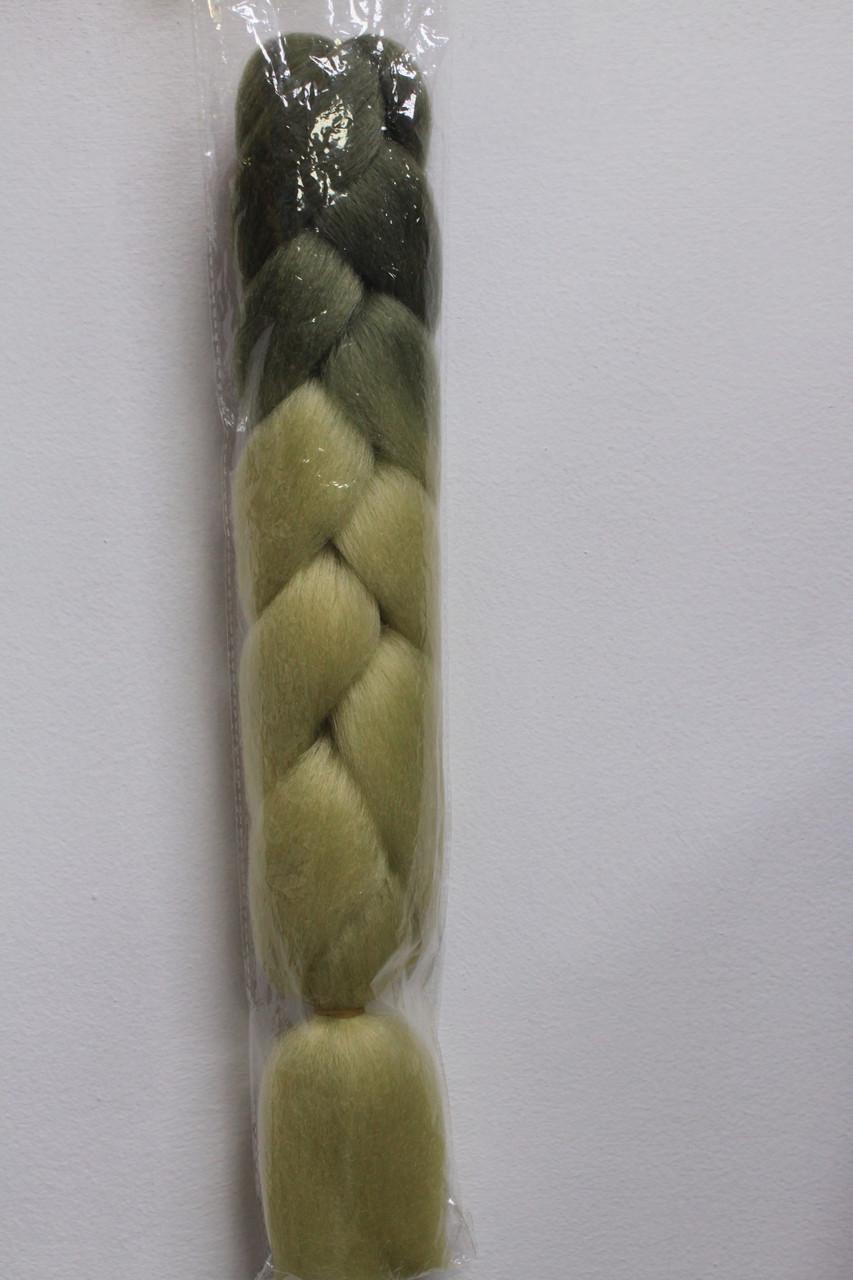 Канекалон омбре натуральный для плетения кос и афрокос  пепельно белый