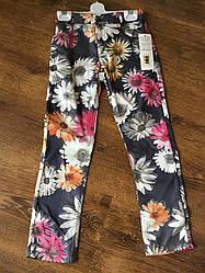 Красивые леггинсы для девочки с цветами