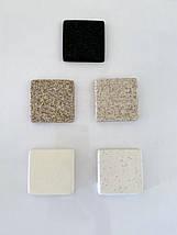 Кухонная мойка угловая искусственный камень кварц Miraggio TIRION белый, фото 3