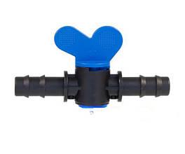 Кран з'єднувальний для краплинної трубки діаметром 16 мм Eco Irtech
