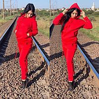 Спортивный костюм женский теплый трехнить (Батал)