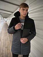 """Куртка мужская демисезонная Intruder """"Fusion"""" черно - серая размер S 46 M 48 L 50 XL 52 XXL 54"""