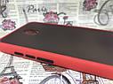 Чехол Xiaomi Redmi 8A противоударный бампер накладка цветная окантовка красный черные кнопки, фото 3