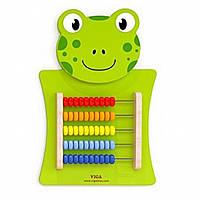 Развивающая игрушка Viga Toys Лягушка со счетами (50679)