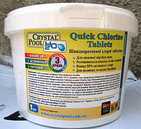 Qick Chlorine Tablets Crystal Pool 1 кг