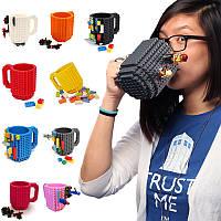 Кружка Лего Lego чашка конструктор 350мл BUILD-ON BRICK MUG Minecraft Код 13-0505