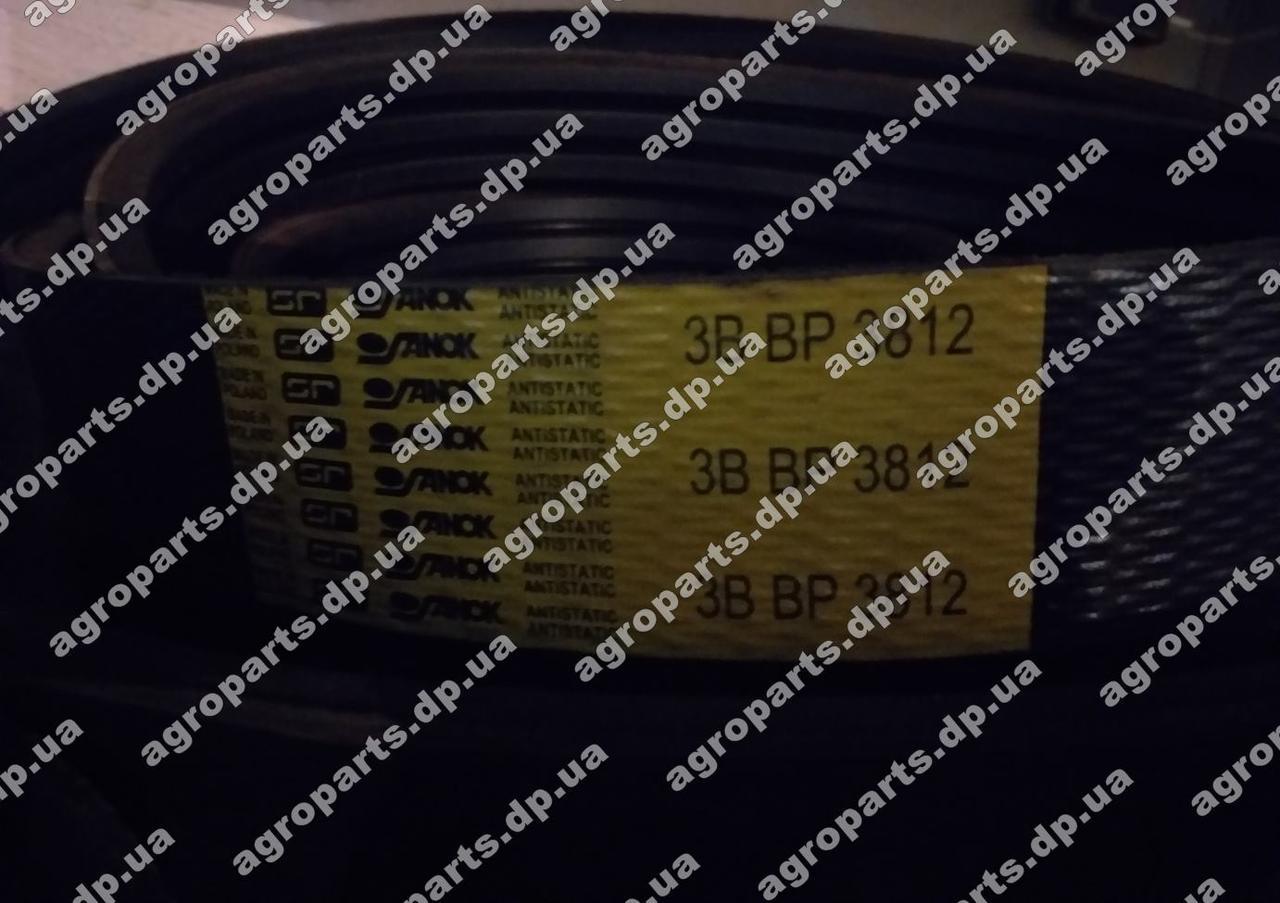 Ремень 3812-3HB усиленный  Sanok Belts пас 3B BP 3812