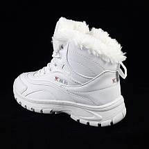 Кроссовки Зимние МЕХ Белые Ботинки (размеры: 38) Видео Обзор, фото 3