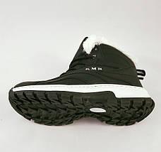 Кроссовки Зимние МЕХ Чёрные Ботинки (размеры: 38) Видео Обзор, фото 3