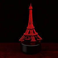 3D Светильник Эйфелева башня, 1 светильник- 16 цветов света. Оригинальные подарки
