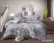 1,5-спальный комплект постельного белья ТМ TAG Полисатин PS-B049