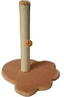Когтеточка для кошки на подставке Лапка  Лори, 380*380*, h-470, d-60сизаль, Напольное, Украина, Когтеточка-столбик