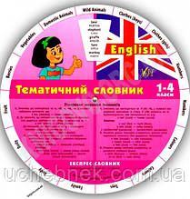 Експрес-словник 1-4 класи Англійський тематичний Авт: Зінов'єва Л. Вид-во: УЛА