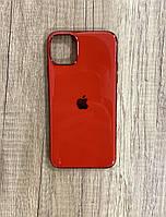 Чехол для iPhone 11 Pro Max силиконовый глянец с логотипом, Красный, фото 1