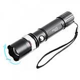 Мощный тактический фонарь Bailong BL T8626 Q5 15000W фонарик 500 Lumen с зарядкой туристический, фото 5