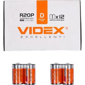 Батарейка Videx R2OP/D 2pcs SHRINK