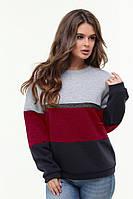 Женский теплый свитер из турецкой трехнитки 48-54р.(2расцв), фото 1