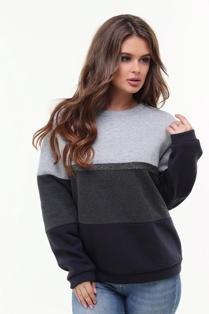 Женский теплый свитер из турецкой трехнитки 48-54р.(2расцв)