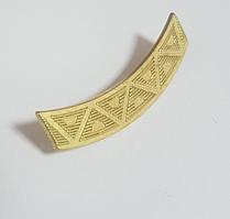 Лычка дугообразная золото металл/ смайлик