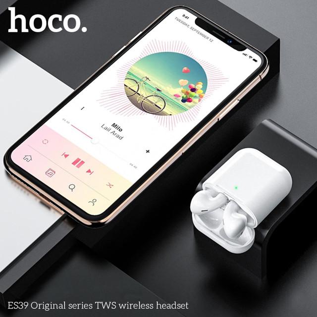 bluetooth Hoco ES39 Оригинал Вкладыши Bluetooth Прямой Белый Наушники Пластик Без крепления