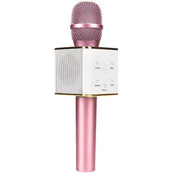 Беспроводной микрофон для караоке Q7 Розовый