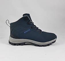Ботинки ЗИМНИЕ Мужские Синие Кроссовки МЕХ (размеры: 42,44) Видео Обзор, фото 3