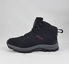 Ботинки ЗИМНИЕ Мужские Чёрные Кроссовки МЕХ (размеры: 43,44,45) Видео Обзор, фото 3