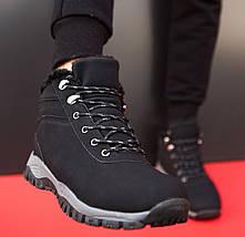 Ботинки ЗИМНИЕ Мужские Кроссовки МЕХ Чёрные (размеры: 40,41,42,43,45), фото 3