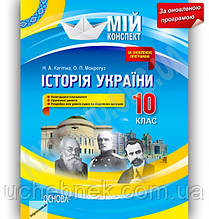 Мій конспект Історія України 10 клас Оновлена програма Рівень Стандарту Авт: Кагітіна Н. Вид-во: Основа
