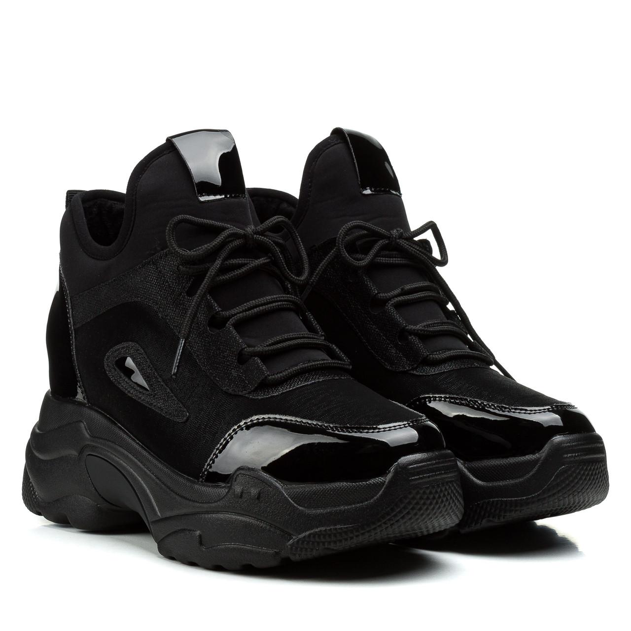 Кроссовки женские VIKONTY (черные, модные, стильные)